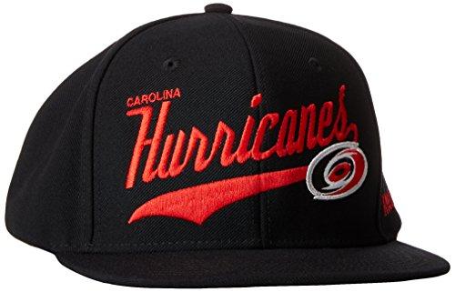 fan products of NHL Carolina Hurricanes Men's SP17 Tail Sweep Flat Brim Snapback Hat, Black, One Size