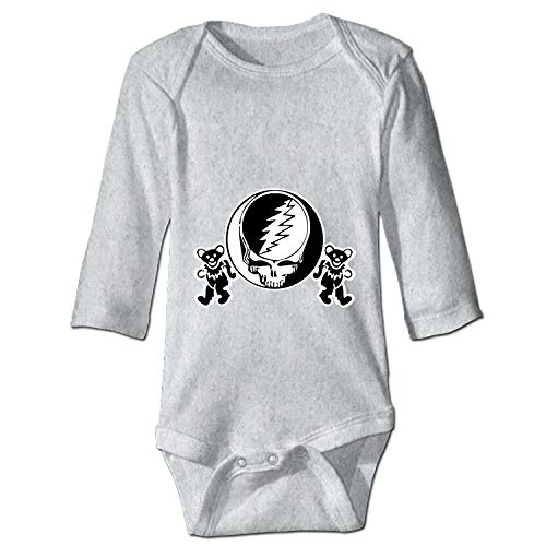 YSKHDBC Grateful Dead Decal Steal Your Face Skull Dancing Bears Baby Infant One Piece Bodysuit -