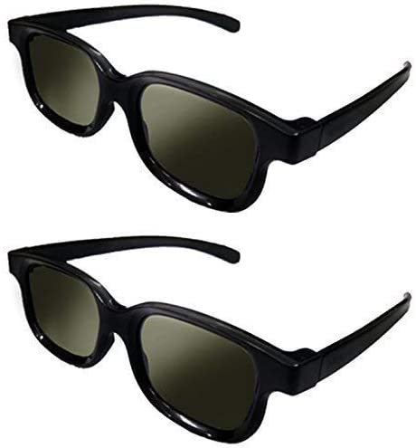 Lot of 2x RealD Technology 3D Polarized Glasses for TV/Movies/Cinema/HD