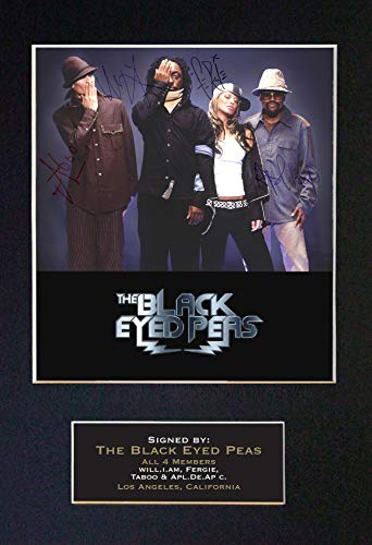 #205 Black Eyed PEAS Signed Autograph Photo Reproduction Print A4 Rare Perfect Birthday (297 x 210mm) (Not Framed)