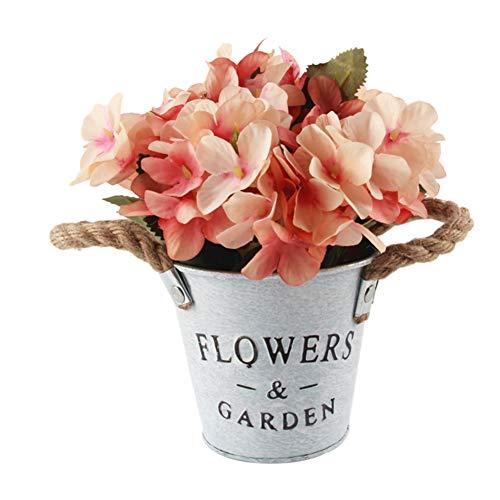 - litymitzromq Artificial Potted Plants Fake Bonsai, 1Pc Potted Artificial Flower Bonsai DIY Garden Living Room Wedding Party Decor Faux Fake Flowers Floral Arrangement Orange