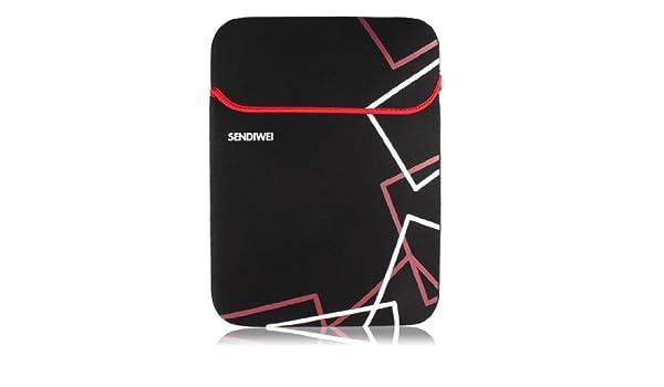 Amazon.com: eDealMax Cubierta de la caja del bolso Negro Rojo Manga protectora Para el 14 DE 14,1 portátil: Electronics