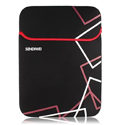 eDealMax Cubierta de la caja del bolso Negro Rojo Manga protectora Para el 14 DE 14