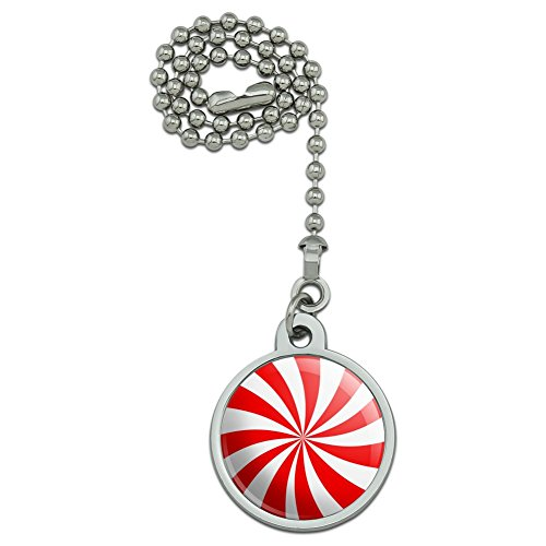 Peppermint Swirl Ceiling Fan and Light Pull Chain