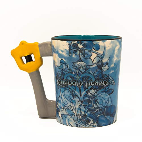 Sculpted Heart - Silver Buffalo KH12183D Kingdom Hearts Characters Key Shaped Handle Ceramic 3D Sculpted Mug, 20-Ounce Blue