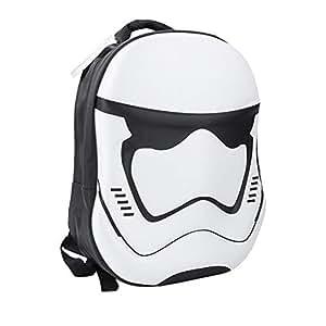 School Backpack 3D Star Wars Laptop Tablet Bag Unisex Cool Rucksack for Boys Girl Men Women (White)