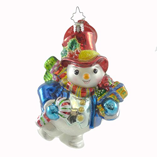 Christopher Radko DAPPER DRIFTY 20TH ANIVERSARY Glass Ornament Snowman