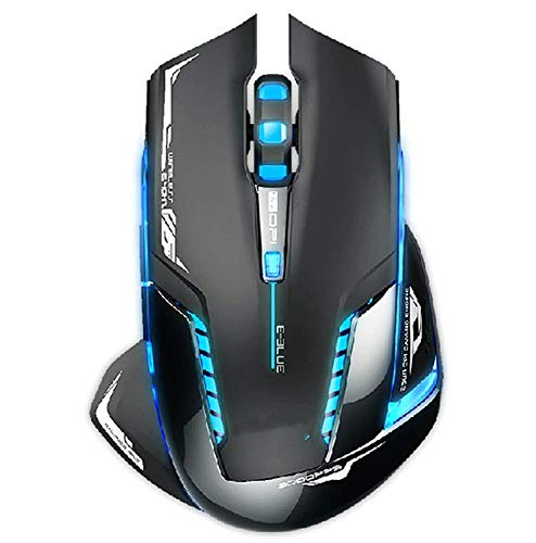 wiuie Best Price E-3lue 6D Mazer II 2500 DPI Blue LED 2.4GHz Wireless Optical Gaming Game ()