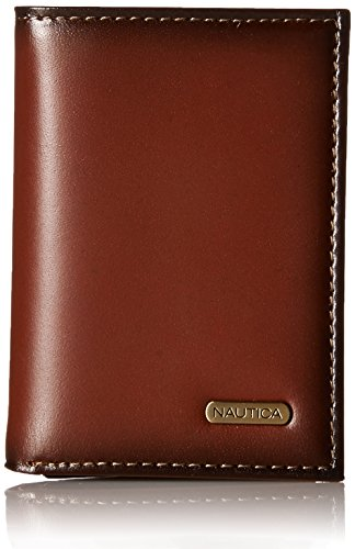 Men's Trifold, Tan Brown Leather Wallet