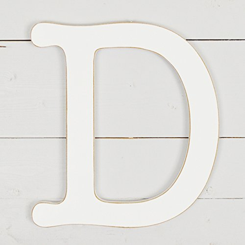 White UNFINISHEDWOODCO 11.5 Typewriter Wall Decor Letter D