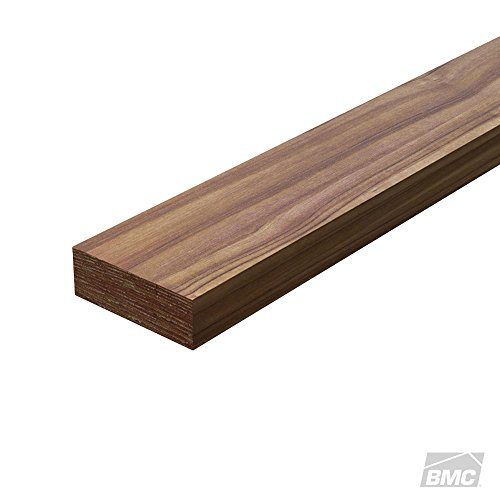 1 Black Walnut Board Measuring 1.25 x 3 x 12 Inches. Thick Lumber by Woodchucks Wood