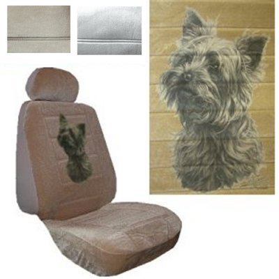 Seat Cover Connection Yorkie Head Print 2 Low Back Bucket Car Truck SUV Covers With