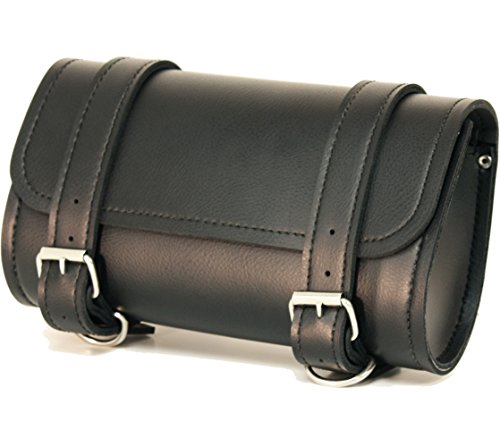 Fuel Helmets SH-BARBAG Handlebar Bag with Leather Shell, (Motorcycle Fork Bags)