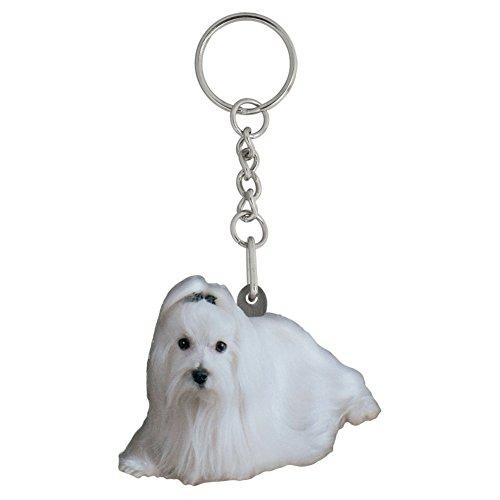 Got Yo Gifts Maltese Mirrored Acrylic Keychain (Got Maltese)