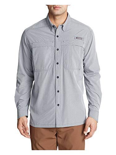 Eddie Bauer Men's Guide Long-Sleeve Shirt, Lt Gray Regular L