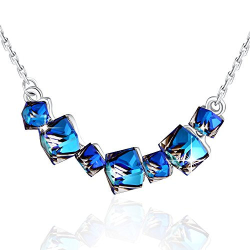 Blue Fashion Jewelry (Color Change Necklace PLATO H Changing color necklace