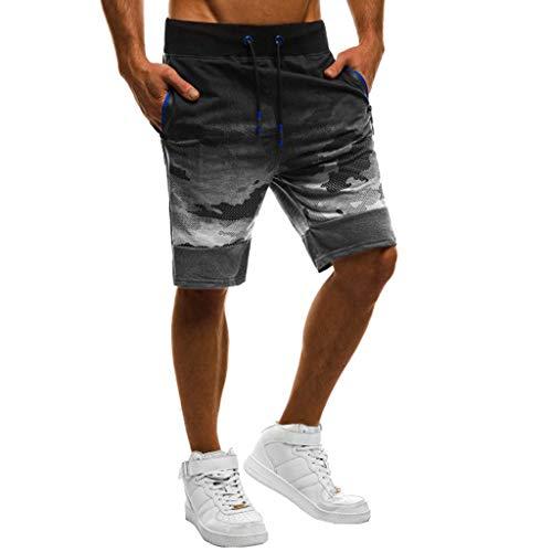 Pelle Bodybuilding Patchwork Pantaloni Pantaloncini Uomo Grigio 2019 Scuro sconto Gli Casual Tasca Sport Shorts Uomo Camuffare pdSRwPfq