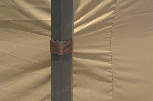 APEX GARDEN Universal Privacy Curtain Set for 10' x 12' Gazebo (Curtains for 4 Sides Only)