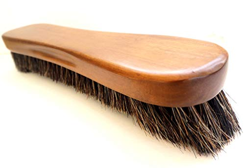 (12'' Big Billiards Brush with Natural Horsehair. No Shedding! Now with Solid Wood Premium Quality Wooden Handle for Pool and Snooker)