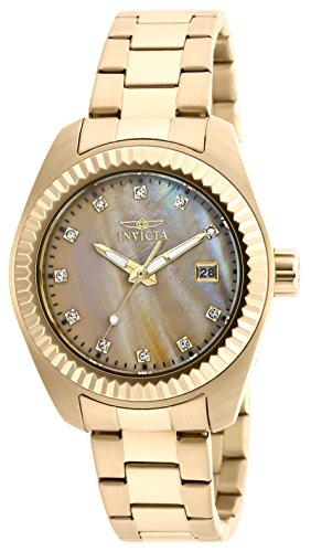 Invicta 20352 – Reloj de cuarzo para mujeres, color dorado