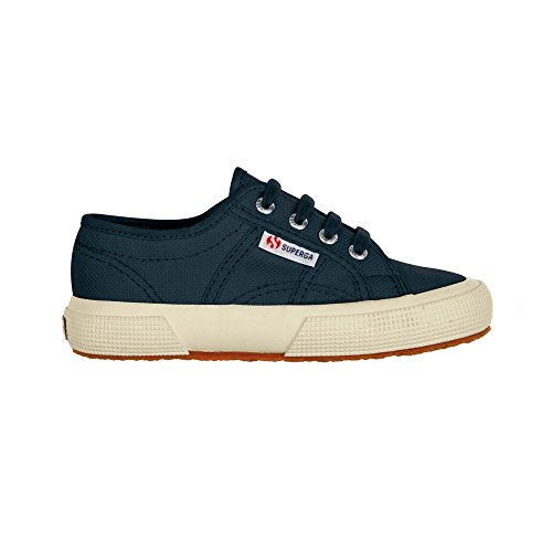 Superga 2750 JCOT Classic, Unisex-Kinder Sneaker Marineblau