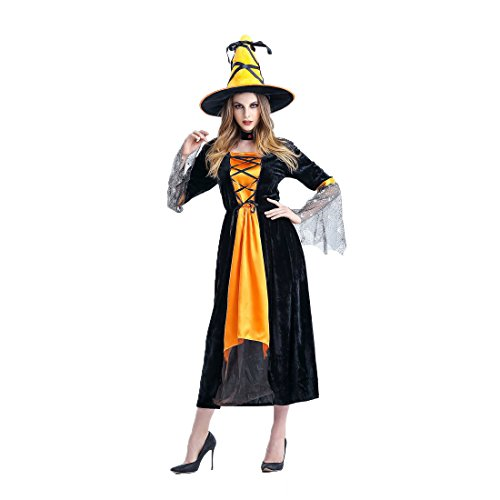 Plus Size Noble Renaissance Man Costumes (Slocyclub Womens Noble Velvet Glamour Witch Costume)