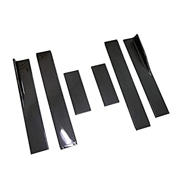 Image of Aishun Dtouch Universal Carbon Fiber Look ABS Side Skirts Length 2.2M/86.6inch