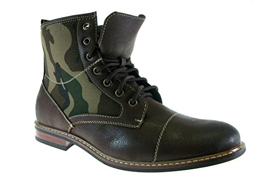 Brown Print 808562A Dress Combat Mens Ferro Style Camouflage Aldo Military Boots I4vqg