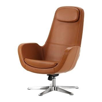 Ikea ARVIKA - Sillón Giratorio, Grann marrón: Amazon.es: Hogar