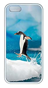 iPhone 5 5S Case Penguin Jumping TPU Custom iPhone 5 5S Case Cover White by lolosakes