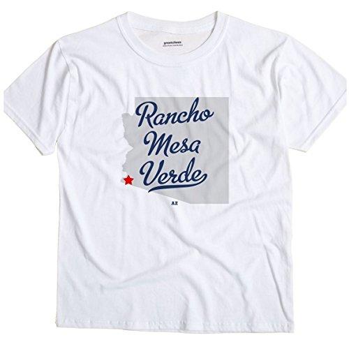 GreatCitees Rancho Mesa Verde Arizona AZ MAP Unisex Souvenir T Shirt (Rancho La Mesa)