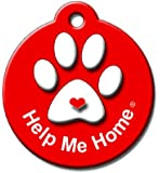 BARKCODE Help Me Home Itty Bitty QR Code Pet ID Tag, Fire Engine Red