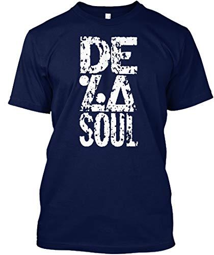 (De la Soul 2XL - Navy Tshirt - Hanes Tagless Tee)