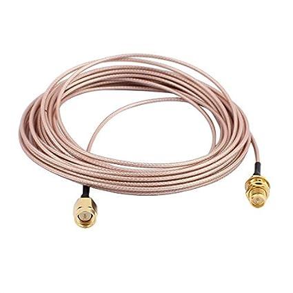 eDealMax Oro SMA Macho a hembra adaptador RP-SMA conector de Cable coaxial RG178 Para