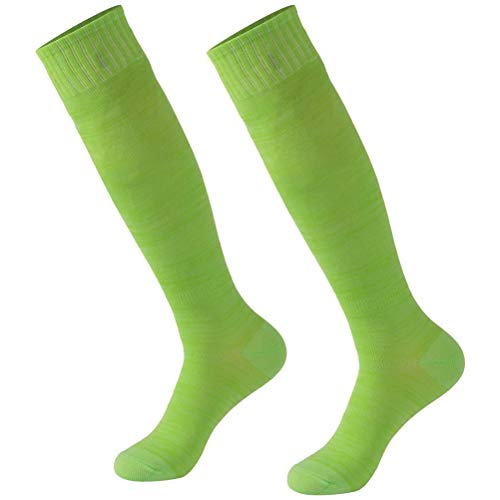 - Solid Soccer Socks, Calbom Womens Soft Rugby Football Sports Knee High Socks,Light Green 2 Pairs