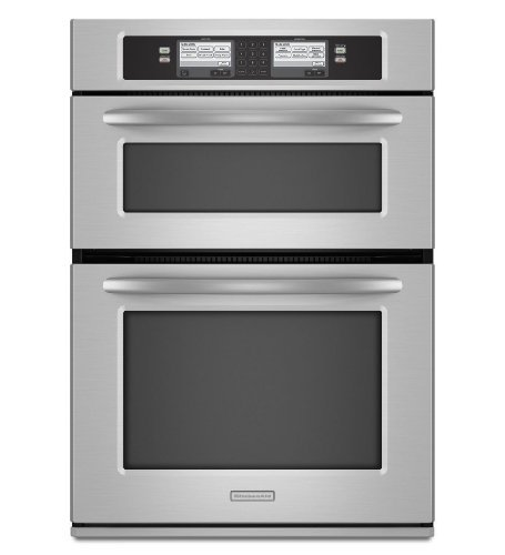 Kitchenaid KEHU309SSS 30 Built-In Microwave/Oven Combination with Steam-Assist Technology (Wall Oven Kitchenaid compare prices)