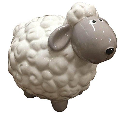 Ceramics Animal Relief Piggy Bank Money Box,Home Decoration ()