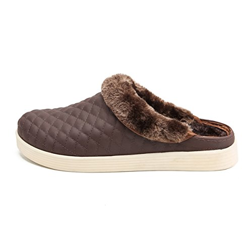 BADIER Cotton Warm Slip Breathable Sole Mens Brown High Winter Mesh Outdoor Shoes Beach Indoor Non Lined Quality Clogs Slippers Garden Womens Breathable Lightweight Slippers FwwBCqp
