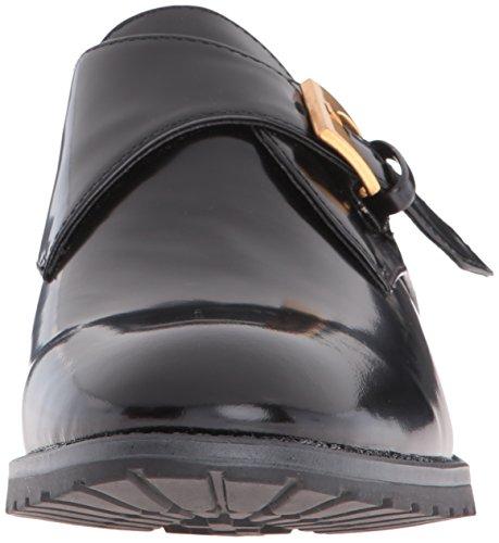 Black Bara Flat Patent Strap Klein Anne Monk Womens qYt0zPE