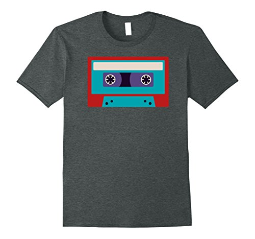 90s Costumes Ideas For Men (Mens Cassette Tape Costume Shirt 80s 90s Party Outfit T-Shirt XL Dark Heather)
