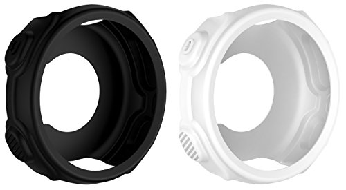 BlueBeach 2 PCS Silicone Protective Case Cover for Garmin Forerunner 235 / 735XT (Black and White)
