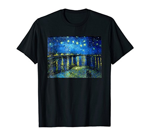 Starry Night Over the Rhone Vincent van Gogh T-Shirt (Arles Canvas)