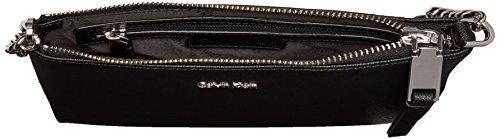 Klein Hayden Saffiano Item Calvin Key silver Crossbody Black p6qZgdw