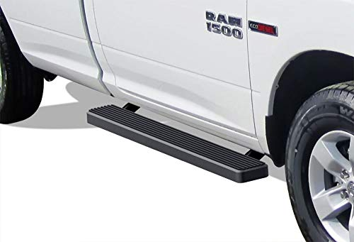 APS iBoard (Black Powder Coated 5 inches) Running Boards | Nerf Bars | Side Steps | Step Rails for 2009-2018 Ram 1500 Regular Cab Pickup 2Dr (Incl. 2019 Ram 1500 Classic)& 2010-2019 Ram 2500/3500