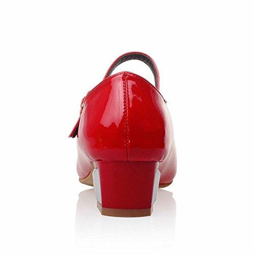 Pumps red Tacchi Block Classico 1 Donna Melady Bassis 6apXXq