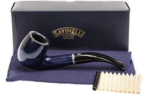Savinelli Arcobaleno 606 Blue Tobacco Pipe - Smooth by Savinelli