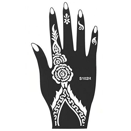 UNAKIM--India Henna Temporary Tattoo Stencils Kit for Hand Arm Leg Feet Body Art Decal - Florida In Mall Shops