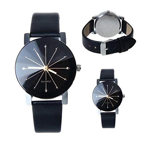 Amazon.com: Watches Women Men Lovers Watch Leather Quartz Wristwatch Female Male Clocks Relogio Feminino Watch for Men: Jewelry