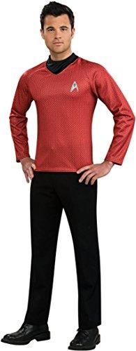 Starfleet Uniforms Costumes (Rubie's Costume Star Trek Into Darkness Scotty Shirt With Emblem, Red, Medium Costume)