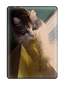 UVNPcaT5730utRzF Case Cover Furry Cat Looking At Camera Ipad Air Protective Case